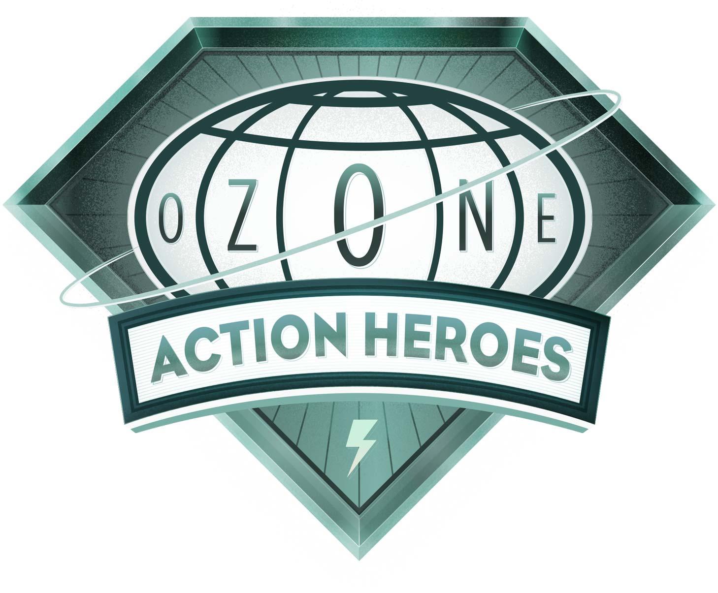 Ozone Action Heroes Logo