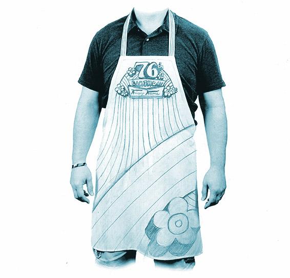 76th birthday apron concept