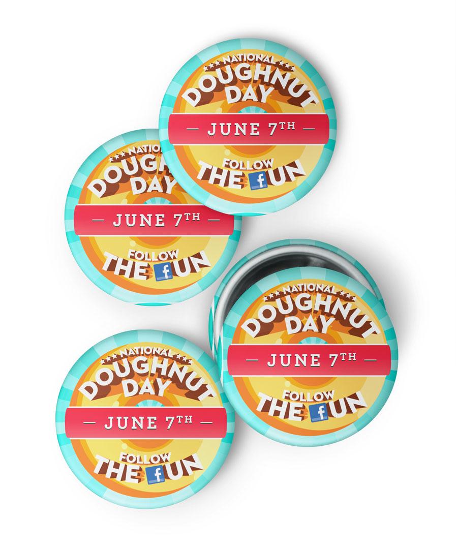 National Doughnut Day Buttons